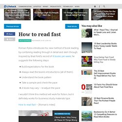 How to read fast