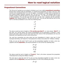 How to read logical notation