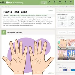 How to Read Palms: 9 Steps