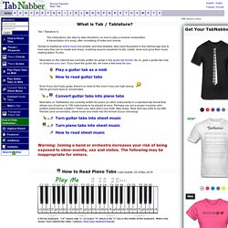 How to read piano tabs / tablature