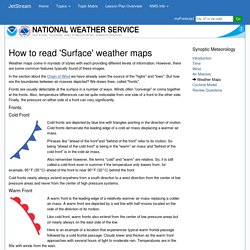 How to read 'Surface' weather maps