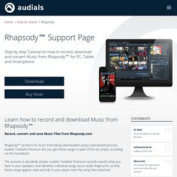audials.com - Learn how to record and download Music from Rhapsody