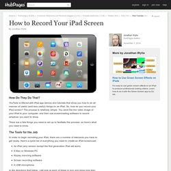 How to Record Your iPad Screen