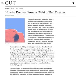 How to Recover From a Night of Bad Dreams
