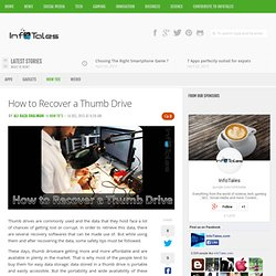 How to Recover a Thumb Drive
