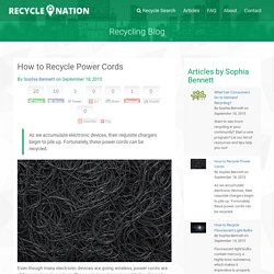 How to Recycle Power Cords