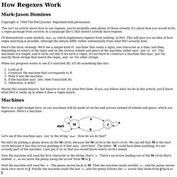 How Regexes Work