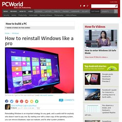 ▶ How to reinstall Windows like a pro