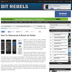 How To: Rejuvenate A Brand via Twitter