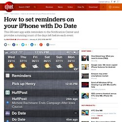 How to set reminders on your iPhone with Do Date