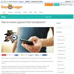 How to remove spyware on smartphones