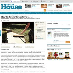 How to Renew Concrete Surfaces