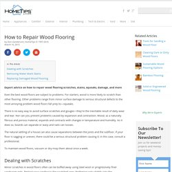 How to Repair Wood Flooring