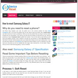 How to reset Samsung Galaxy J7