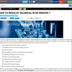 How to resolve technical in HP printer ?