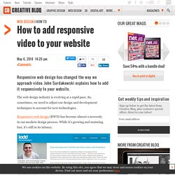 How to add responsive video to your website