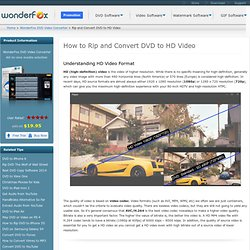 How to Rip and Convert DVD to HD Video