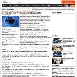 How to Run Mac Programs on a Windows PC