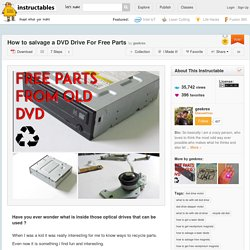 How to salvage a DVD Drive For Free Parts - All