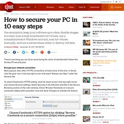 How to secure your PC in 10 easy steps - CNET