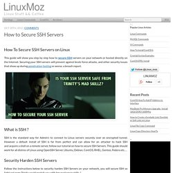 How To Secure SSH Servers - LinuxMoz