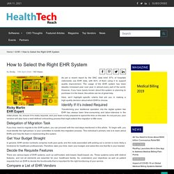 How to Select the Right EHR System -EHR