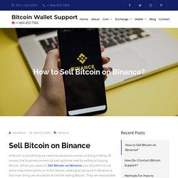 How to Sell Bitcoin on Binance?