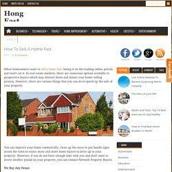 How to Sell a Home Fast « Hong East