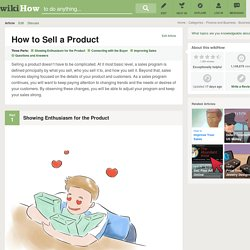 How to Sell a Product: 15 steps