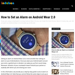 How to Set an Alarm on Android Wear 2.0