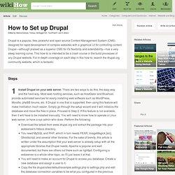 How to Set up Drupal: 9 Steps