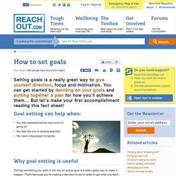 How to set goals