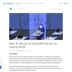 How To Set Up an OpenVPN Server on Ubuntu 14.04