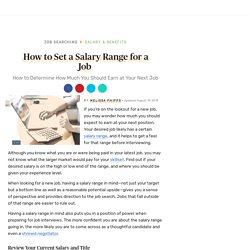How to Set a Salary Range for a Job
