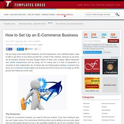 How to Set Up an E-Commerce Business