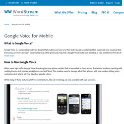 How to Set Up Google Voice