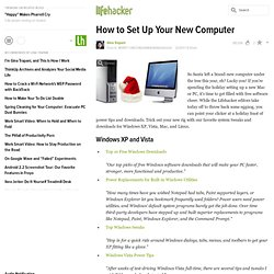 Merry Christmahanukwanzaakkah: How to Set Up Your New Computer