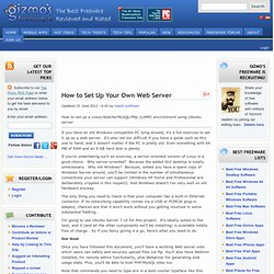 How to Set Up Your Own Web Server