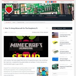 How To Setup Minecraft On The Raspberry Pi