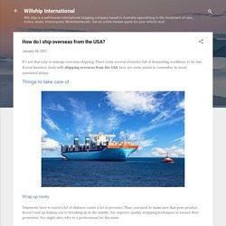 How do I ship overseas from the USA?