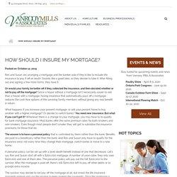 Mortgage Insurance at Vanrooy Mills