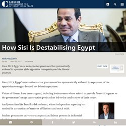 How Sisi Is Destabilising Egypt