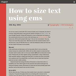 Clagnut § Typography · CSStechniques