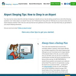 How to Sleep in the Airport