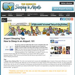 How to Sleep in Airports - Tips and Advice - The Guide to Sleepi