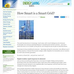 How Smart is a Smart Grid?