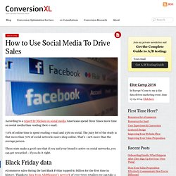 How to Use Social Media To Drive Sales