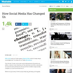How Social Media Has Changed Us