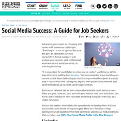 How to Use Social Media for Your Job Search