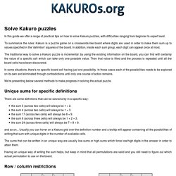 How to Solve Kakuro Puzzles